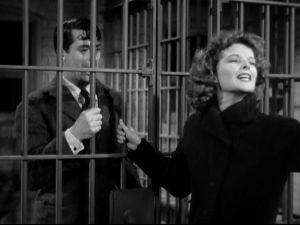 Hepburn's acting in the jail scene